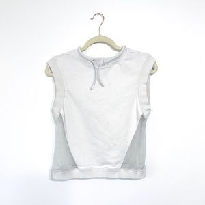 Fabletics White Mesh Hooded Tank Jacket